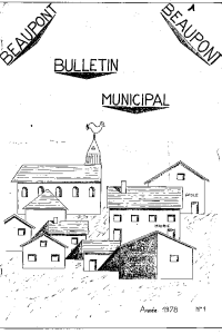 documentation PDF Bulletin municipal - Année 1978 n° 1
