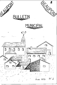 documentation PDF Bulletin municipal - Année 1978 n° 2