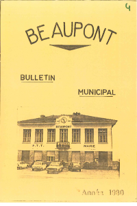 documentation PDF Bulletin municipal - Année 1980