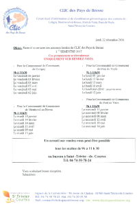 documentation PDF CLIC - Permanences du 1er semestre 2017