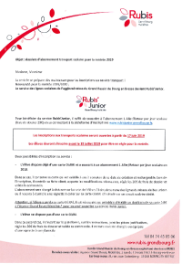 documentation PDF Transports scolaires - Inscriptions 2019/2020